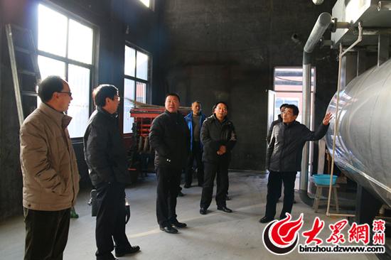 博兴县教育局局长李光辉到县第六中学调研