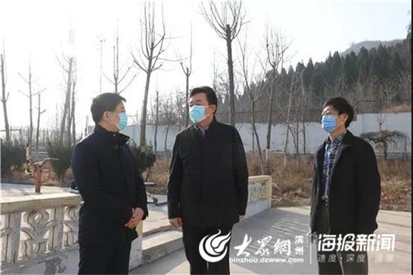 邹平市委书记皮台田到黄山街道督