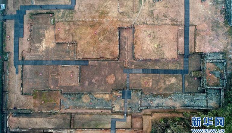 这是1月21日航拍的大上清宫遗址。